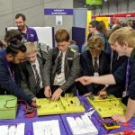 Students learning with Flybe at Big Bang SW