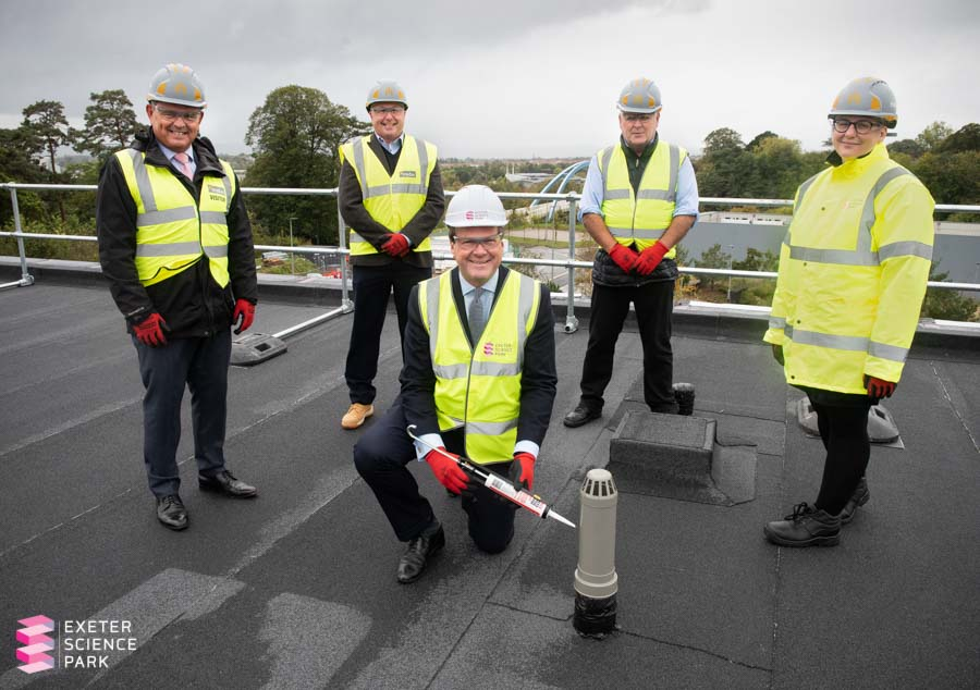 Topping out of the Ada Lovelace Building at Exeter Science Park