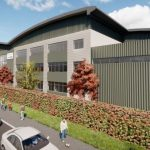 CGI of new Stovax Premises