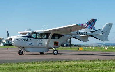 Ampaire brings Hybrid Electric Flight to Exeter Airport