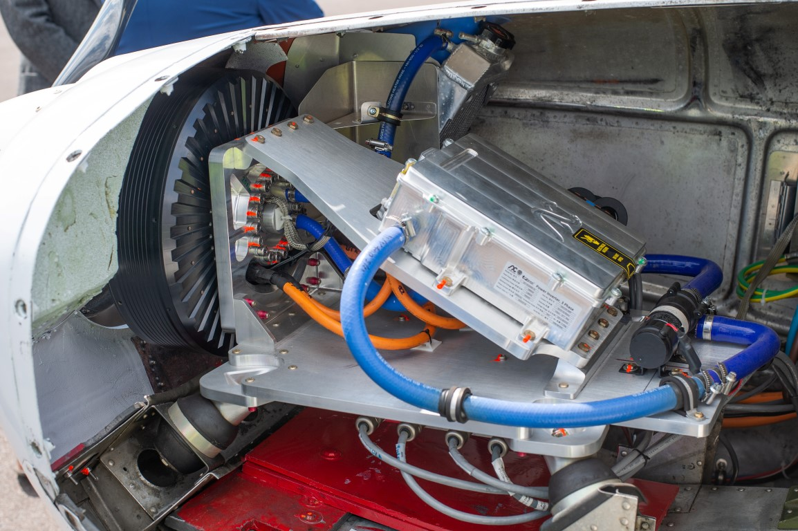 Under the bonnet of a hybrid electric plane